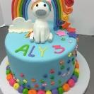 Fondant 3D Unicorn & Rainbow