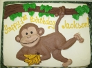 Monkey on Vine Drawn On
