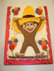 Monkey with Yellow Hat drawn on