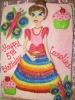 Princess with Rainbow Dress Drawn On