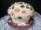 Cupcake Cake with daisies