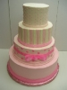4 Tier Round with Light Pink Accents and Simple Bow