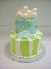 Fondant Bow and Wacky Stripes on Tier