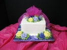 Square Cake with Roses