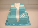 Blue Present in Buttercream with Fondant Bow