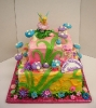 Bright Fairy Theme with Mushrooms and Flowers