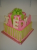 Pink and Lime Green Presents with Chocolate Letters