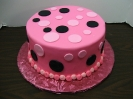 Fondant Dots Pink and Black