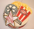 Movie Reel and Popcorn 3D