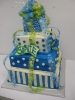Blue and White 4 Tier