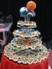 Sports Cupcakes on Stand