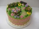 floral_Flower Garden on round