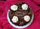 floral_Chocolate and White Roses on Chocolate